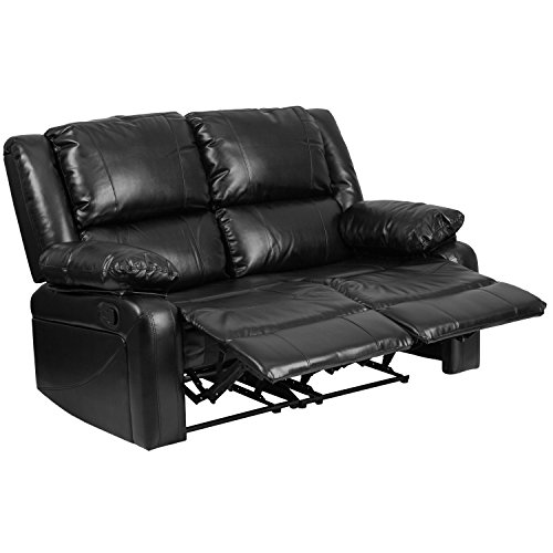 Flash Furniture Harmony Series Black Leather Loveseat With