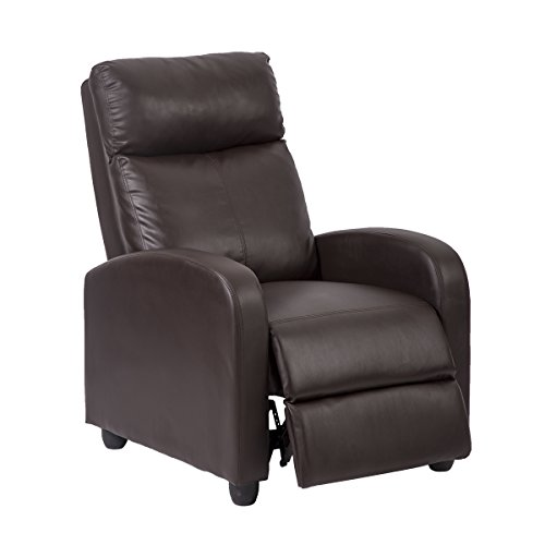 Single Recliner Chair Sofa Furniture Modern Leather Chaise
