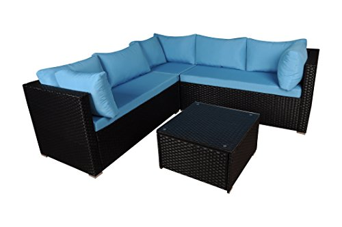 Modern Outdoor Garden, Sectional Sofa Set With Coffee