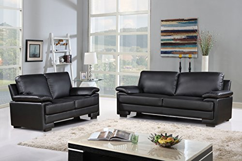 faux leather living room furniture modern faux leather sofa and loveseat living room 21775