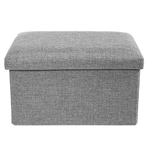 Storage Ottoman Polyester Folding Stool Foot Rest Seat