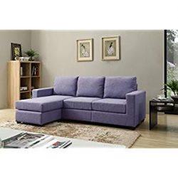 NHI Express Alexandra Convertible Sectional Sofa, Blue