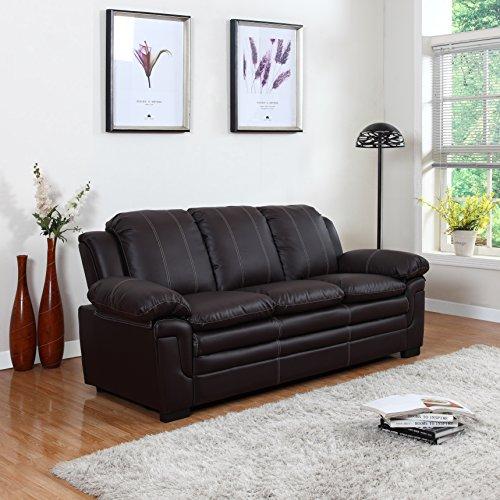 Roma Leather Sofa: Divano Roma Furniture Classic Bonded Leather Sofa Set
