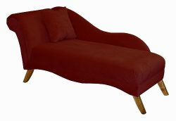 Isabella Single Arm Chaise Lounge by Skyline Furniture in Berry Velvet