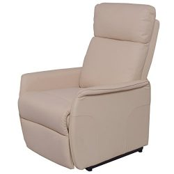 Giantex PU Electric Lift Chair Power Recliner Reclining Sofa Lounge W/Remote Controller (Beige)