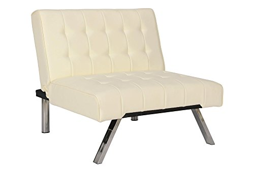 Dhp Emily Accent Chair With Split Back And Chrome Legs
