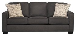 Ashley Furniture Signature Design – Alenya Sleeper Sofa with 2 Throw Pillows – Queen ...