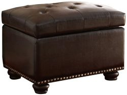 Convenience Concepts Designs4Comfort Storage Ottoman, Dark Espresso