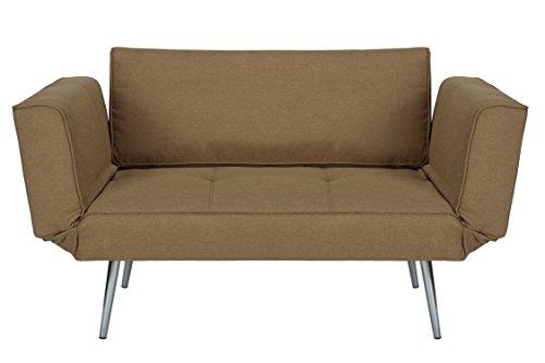 Dhp euro sofa futon loveseat with chrome legs and for Sofa 400 euro