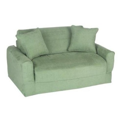 Fun Furnishings Sofa Sleeper Green Micro Suede