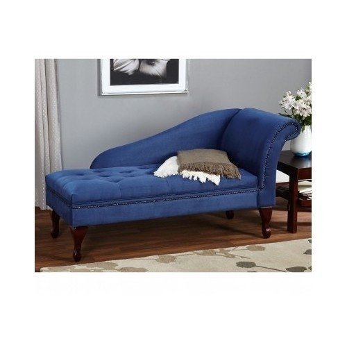 Blue Chaise Storage Lounge Chair Sofa Loveseat For Living