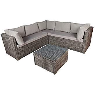 Modern Outdoor Garden Sectional Sofa Set With Coffee