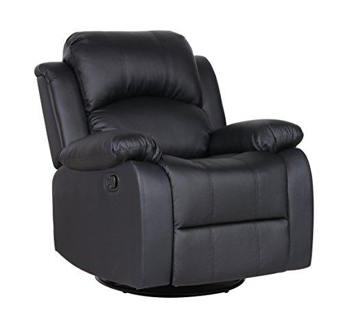 Bonded Leather Rocker And Swivel Recliner Living Room