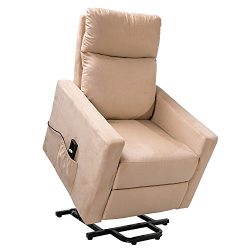 Merax Power Lift Chair And Power Recliner In Suede Fabric