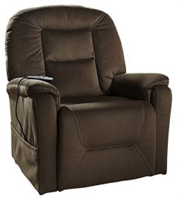 Ashley Furniture Signature Design – Samir Power Lift Recliner – Chic Reclining Couch ...