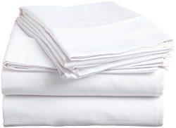 Egyptian Cotton Queen Sleeper Sofa Bed Sheet Set 400 Thread Count 62″x74″x6″ W ...
