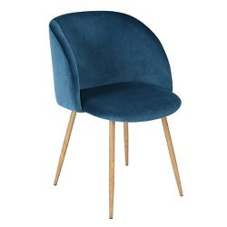 Mid Century Velvet Living Room Accent Armchair, Modern Leisure Chair Club Chair with Strong Stee ...