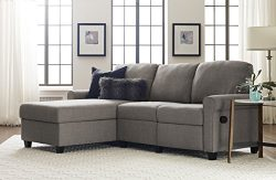 Serta UPH2001290 Copenhagen, Left Sectional, Gray