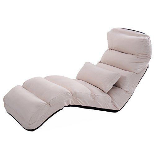 Giantex Folding Lazy Sofa Chair Stylish Sofa Couch Beds