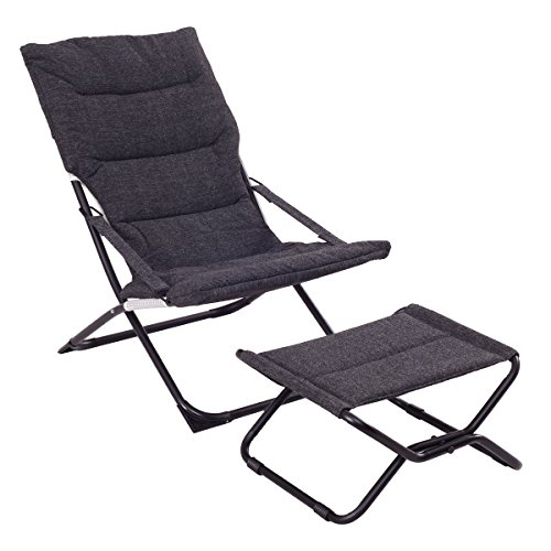 Giantex folding leisure recliner lounge chaise chair