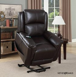 Seven Oaks Power Lift Recliner for Seniors, Electric Chair for the Elderly with Heated Massage,  ...