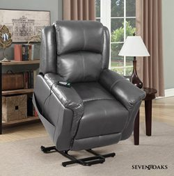 Seven Oaks Power Lift Recliner for Seniors | Electric Chair for the Elderly with Heated Massage  ...