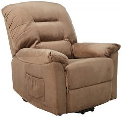 Coaster Home Furnishings  Modern Transitional Power Lift Wall Hugger Recliner Chair with Emergen ...