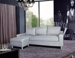 US Pride Furniture Kachy Fabric Convertible Sleeper Sectional Sofa Bed & Facing-Left Chaise, ...