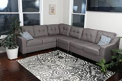 Oliver Smith – Large Brownish Grey Linen Cloth Modern Contemporary Upholstered Quality Sec ...
