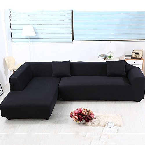 Universal Sofa Covers For L Shape 2pcs Polyester Fabric