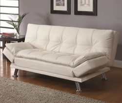 Coaster Home Furnishings  Dilleston Modern Covertible Futon Sofa Sleeper Bed with Adjustable Arm ...
