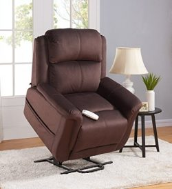 Serta Perfect Lift Chair – Full Lay Flat Recliner – Model 872-Fusion – Full Fa ...