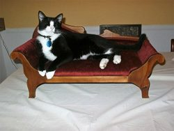 Custom pet or doll empire love seat.