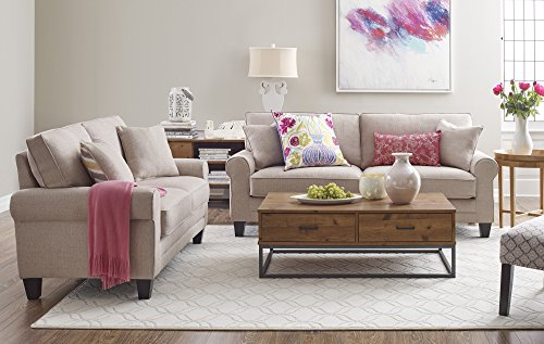 Serta Deep Seating Copenhagen 61 Quot Loveseat In Beige