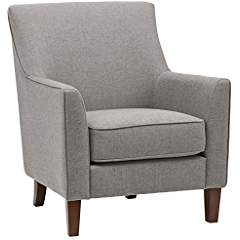 Stone & Beam Cheyanne Modern Accent Chair, 31″W, Storm