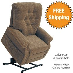 Catnapper Power Lift Chair Full Lay-Out Recliner with Comfort Coil Seating – Soft & Du ...
