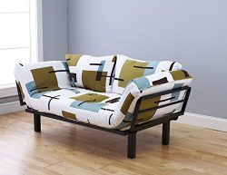 Best Futon Lounger Sit Lounge Sleep Smaller Size Furniture is Perfect for College Dorm Bedroom S ...