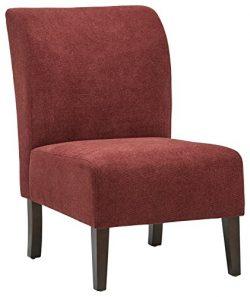 Stone & Beam Lummi Modern Armless Accent Chair, 21.6″W, Chianti