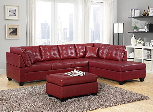 Gtu furniture pu leather living room furniture sectional - Red leather living room furniture set ...