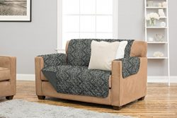 Kingston Collection Deluxe Reversible Stain Resistant Furniture Protector with Beautiful Printed ...