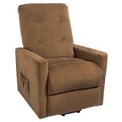 Homall Recliner Power Lift Chair Easy Comfort Recliner Living Room Furniture with Remote (Brown)