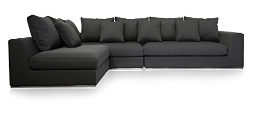 Urbanmod modern reversible sectional sofa gray 120quot 170 for Sectional sofa 120