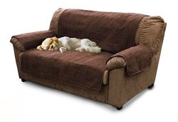 Furhaven Pet Products Home Loveseat Protector, Espresso