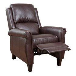 Denise Austin Home Memphis PU Leather Recliner Club Chair