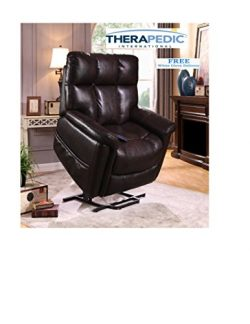 Therapedic, Lift Chair Recliner with Carbon Heat & Sonic Massage, Extra Large Lift Chair Rec ...