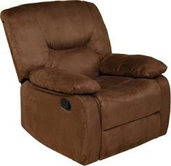 Relaxzen 60-701511 Rocker Recliner, Brown Microfiber