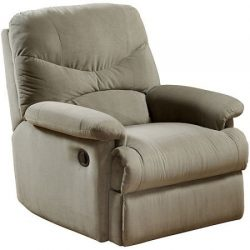 Wall Hugger Microfiber Recliner Adjustable Chair for Living Room, Multiple Colors (Sage)