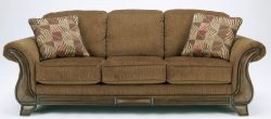 Ashley Furniture Signature Design – Montgomery Sleeper Sofa with 2 Accent Pillows –  ...