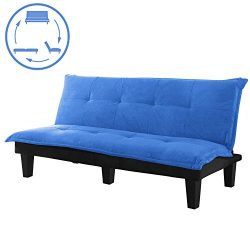 Sofa Bed, Modern Convertible Futon Sofa Bed With Wood Legs Quickly Converts into a Bed by CloudW ...