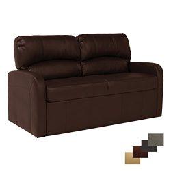 RecPro Charles 70″ Jack Knife RV Sleeper Sofa w/ Arms RV Furniture (Mahogany)